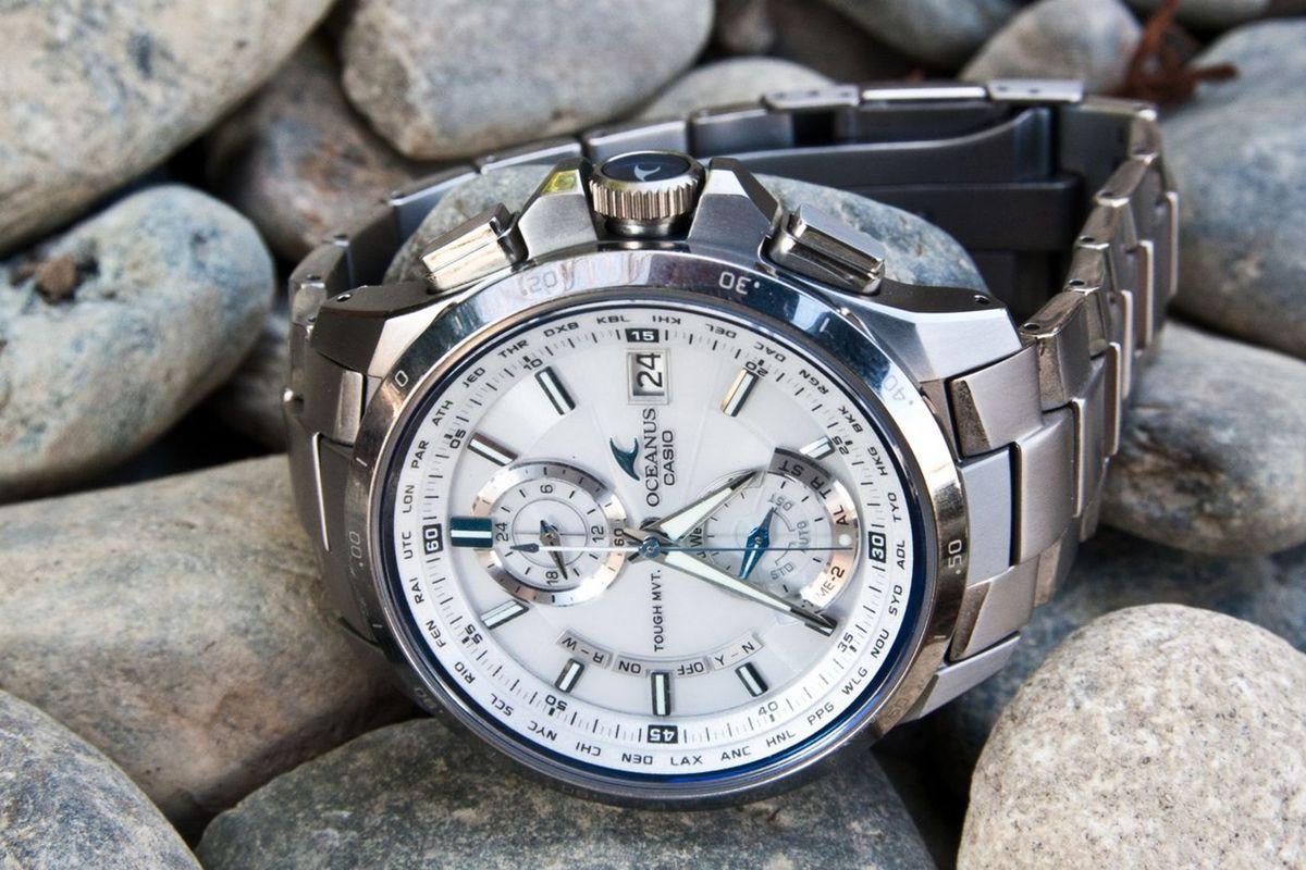 12f108ec427 relógio casio oceanus ocw-t1000-7ajf - importado e novo - relógios casio
