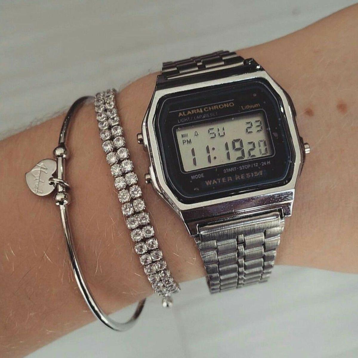 93d49139823 Relógio Casio Prata