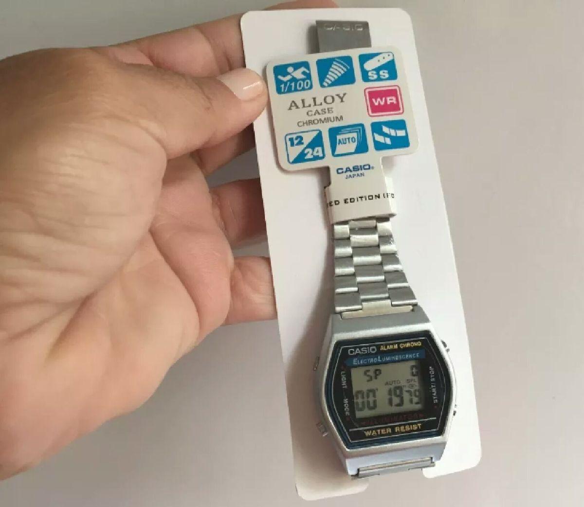 03bb9b4f9a5c relógio casio vintage b640 unissex novo com manual e caixa - relógios casio