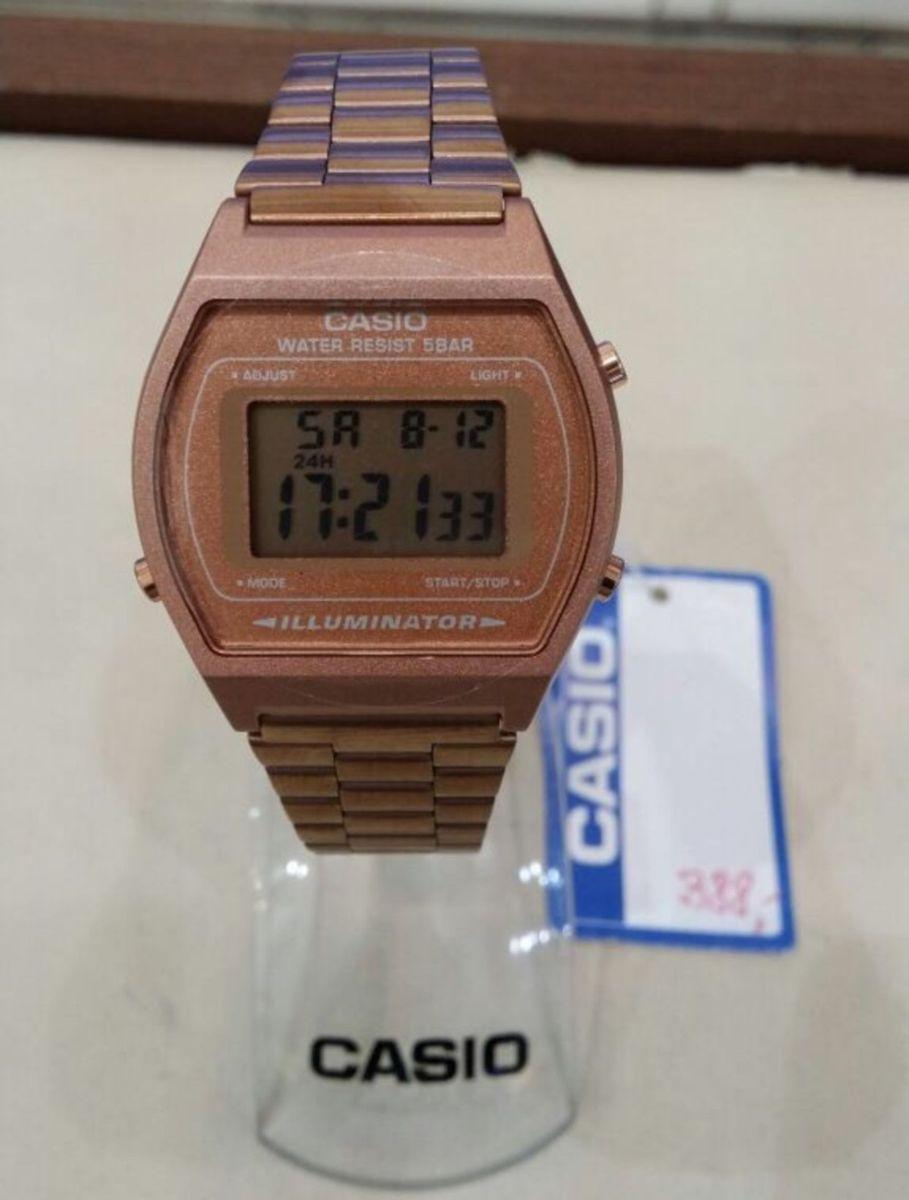 8f87d72ba2b relógio casio vintage retro rose novo original - relógios casio