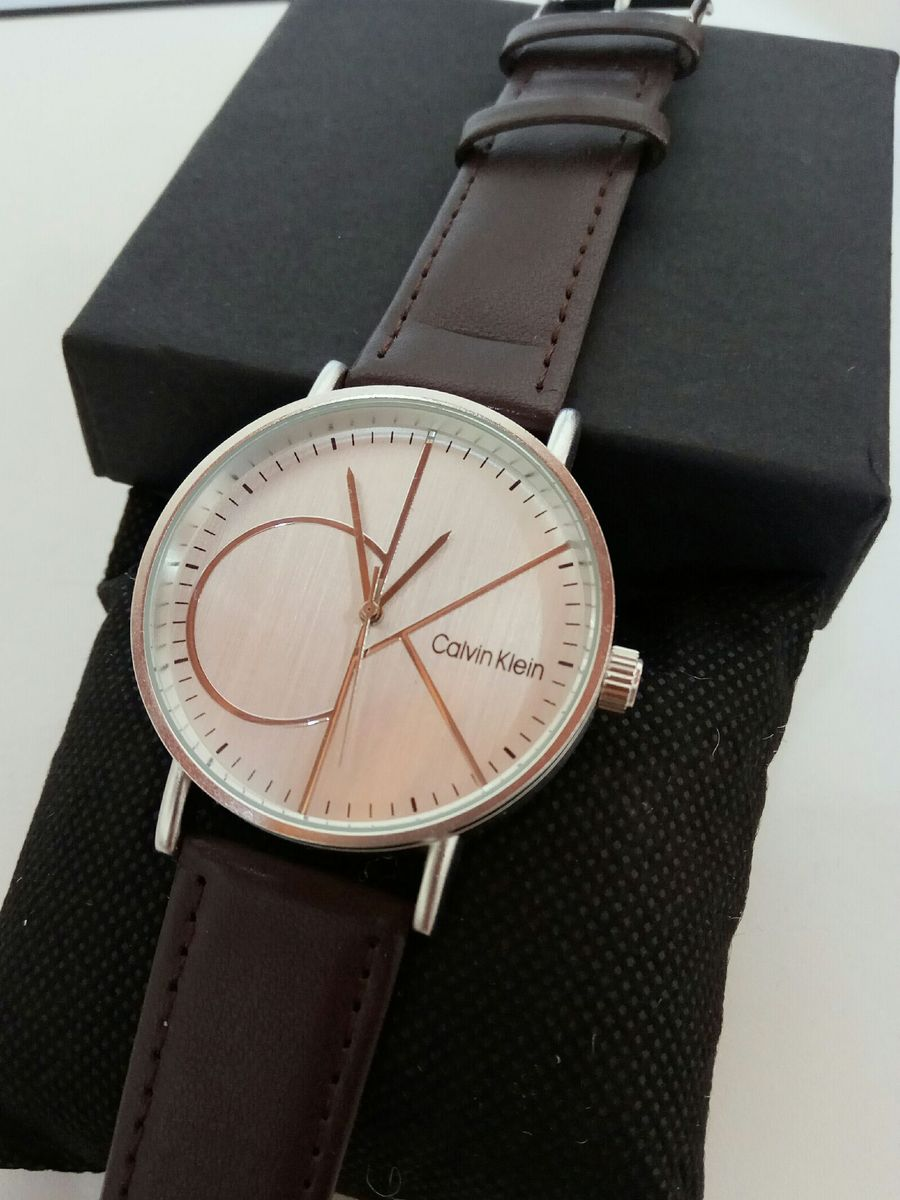 7385c33beab31 relógio ck pulseira em couro - relógios calvin klein