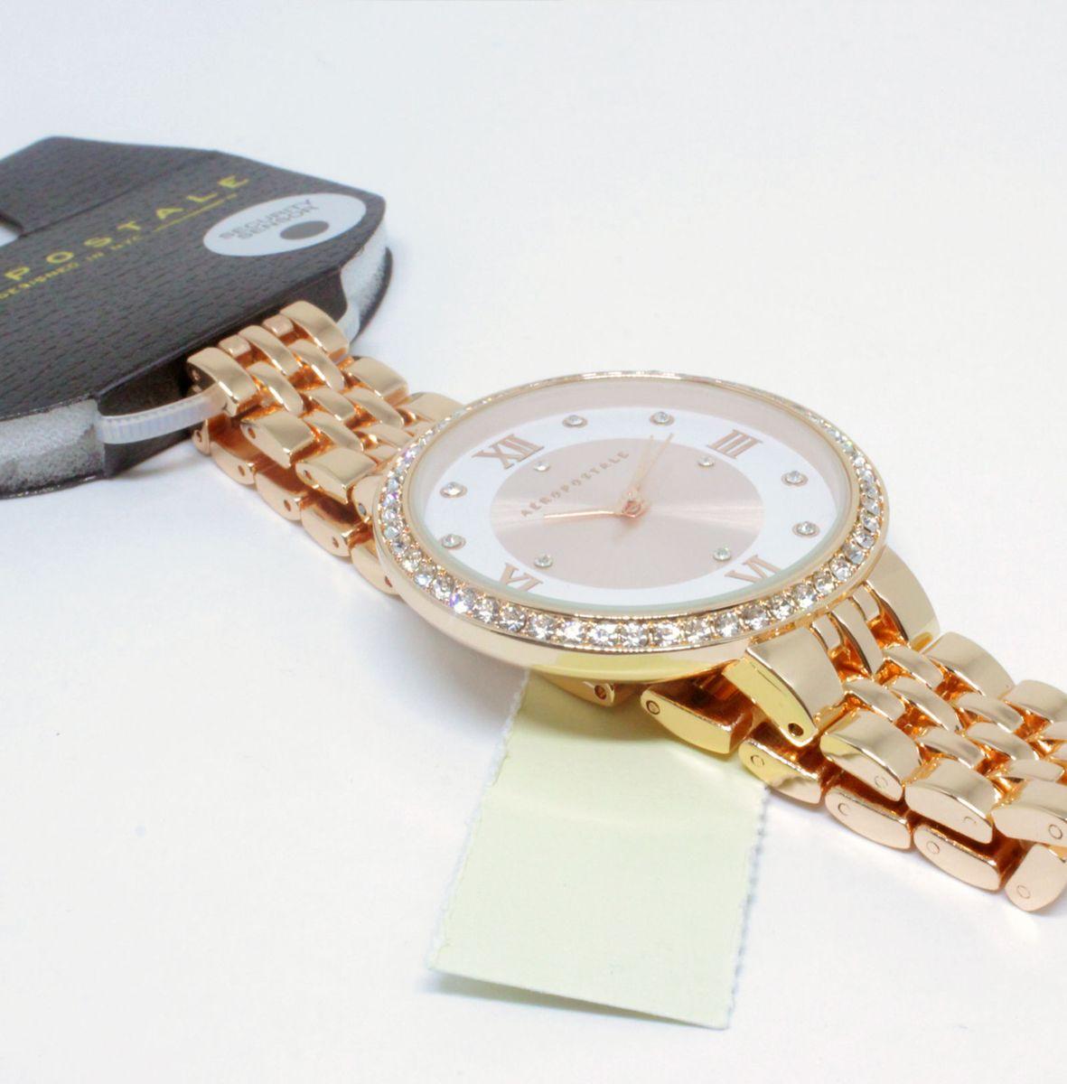 5b19f85421f relógio com logo aeropostale original feminino importado rose strass - relógios  aeropostale