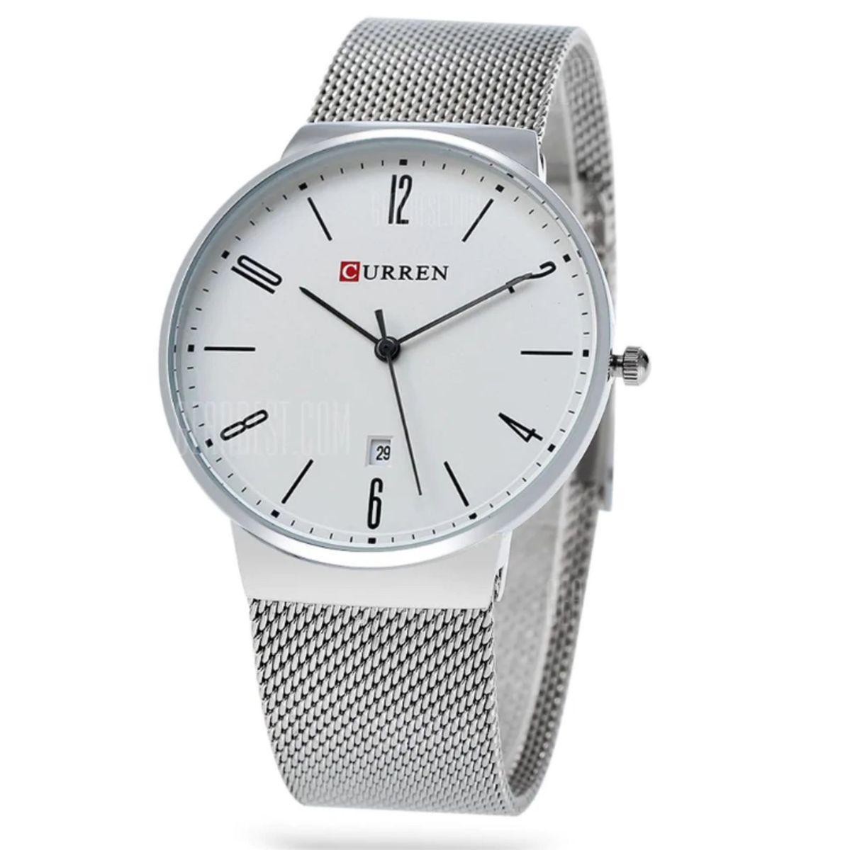 afa55936672 relógio curren 8257 masculino casual aço prova água - relógios curren
