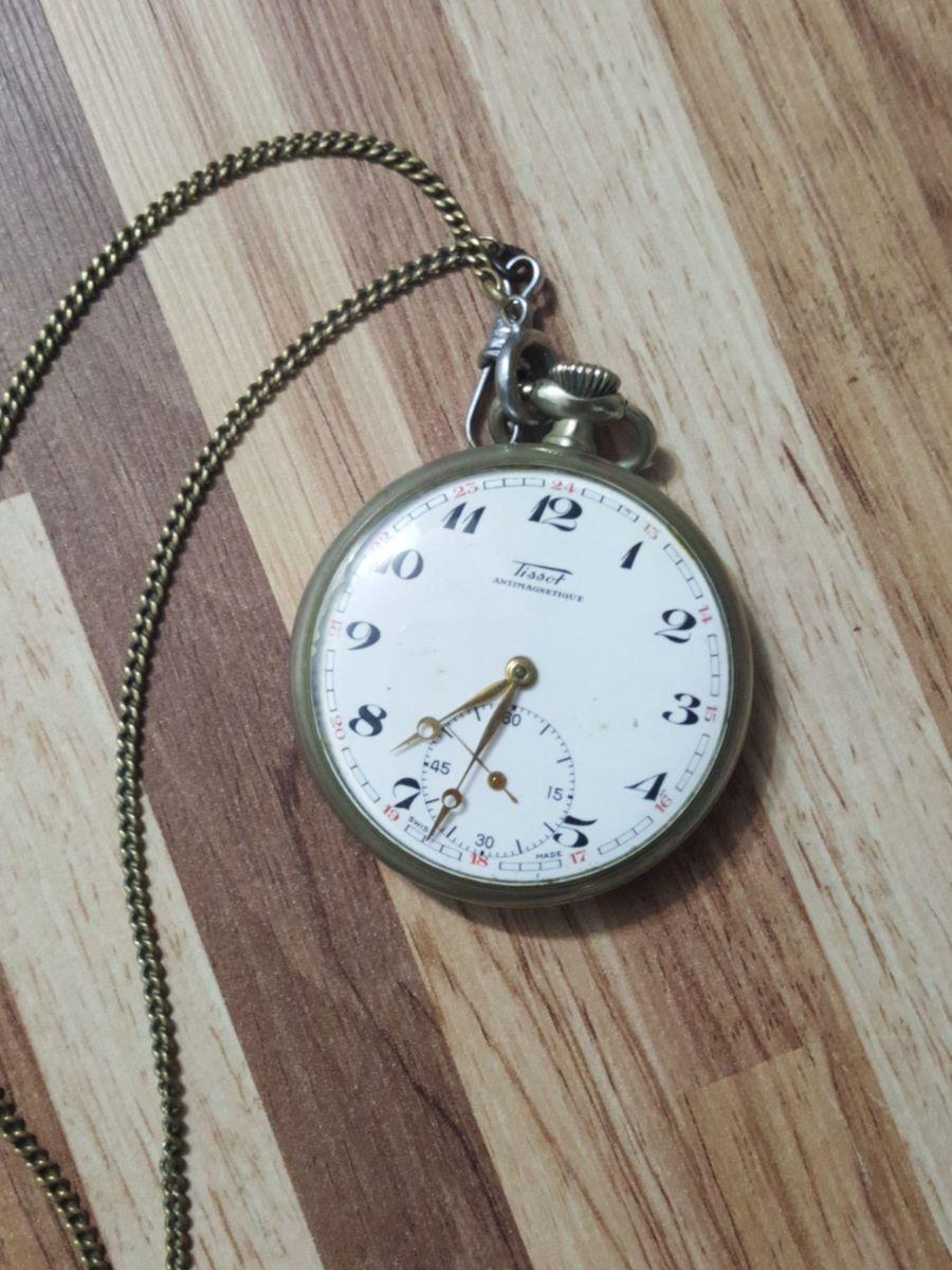 28a02d2a726 relogio de bolso antiguidade tissot original - relógios tissot  antimagnetique