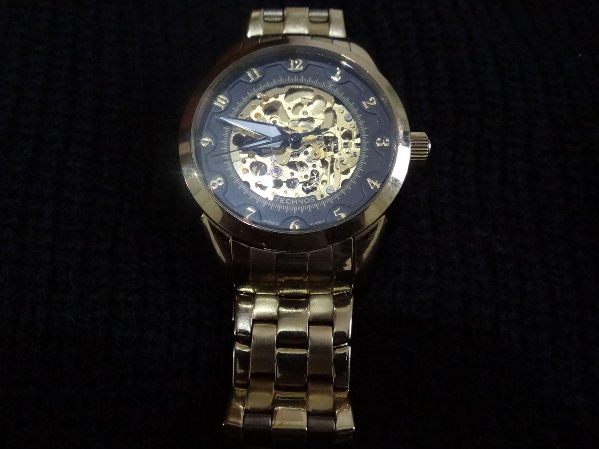 Relógio de Pulso Technos Esqueleto Automático   Relógio Masculino ... 416361716f