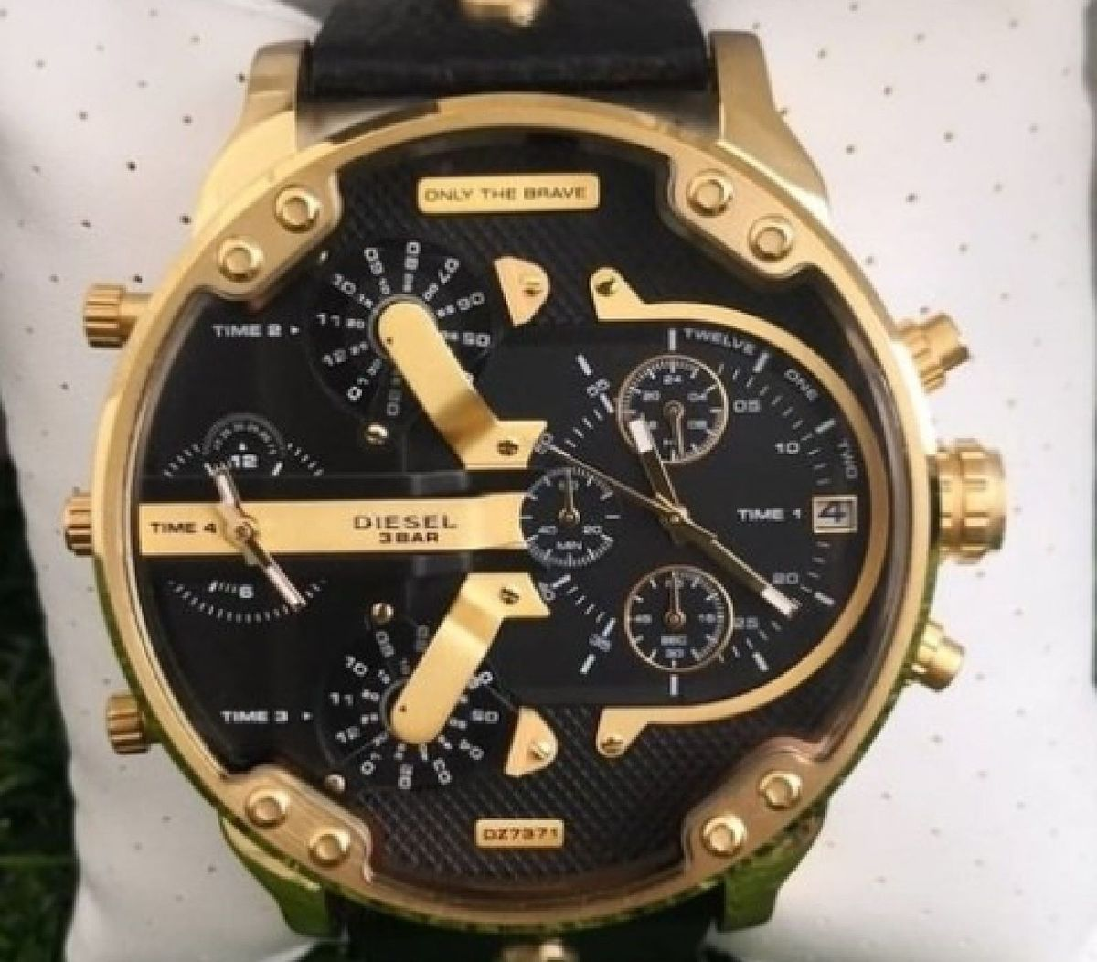 relógio diesel dz7371 pulseira couro lindo leia todo anúncio - relógios diesel