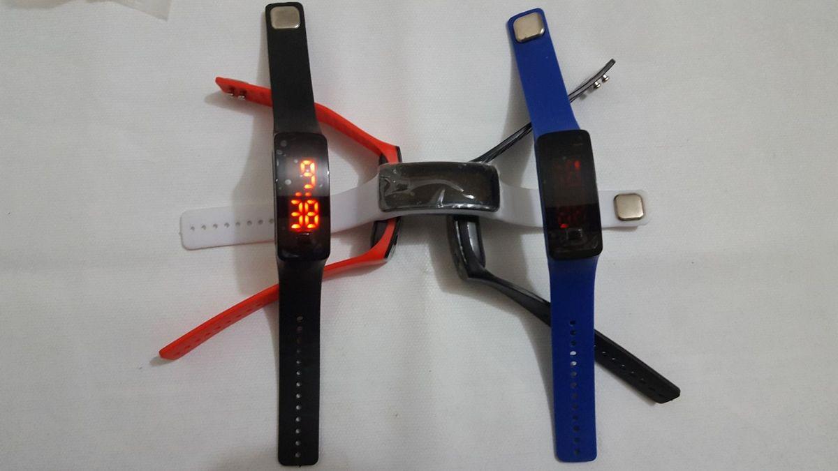 2d57ba46984 relógio digital de led com pulseira de silicone fino unisex - relógios led