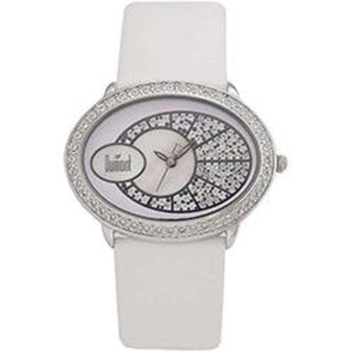 6df380206b4 relógio dumont pulso feminino pulseira branca com cristais - relógios dumond