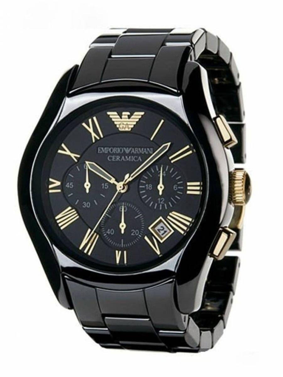 15c07c59b5a relogio emporio armani ar1413 preto caixa manual - relógios armani