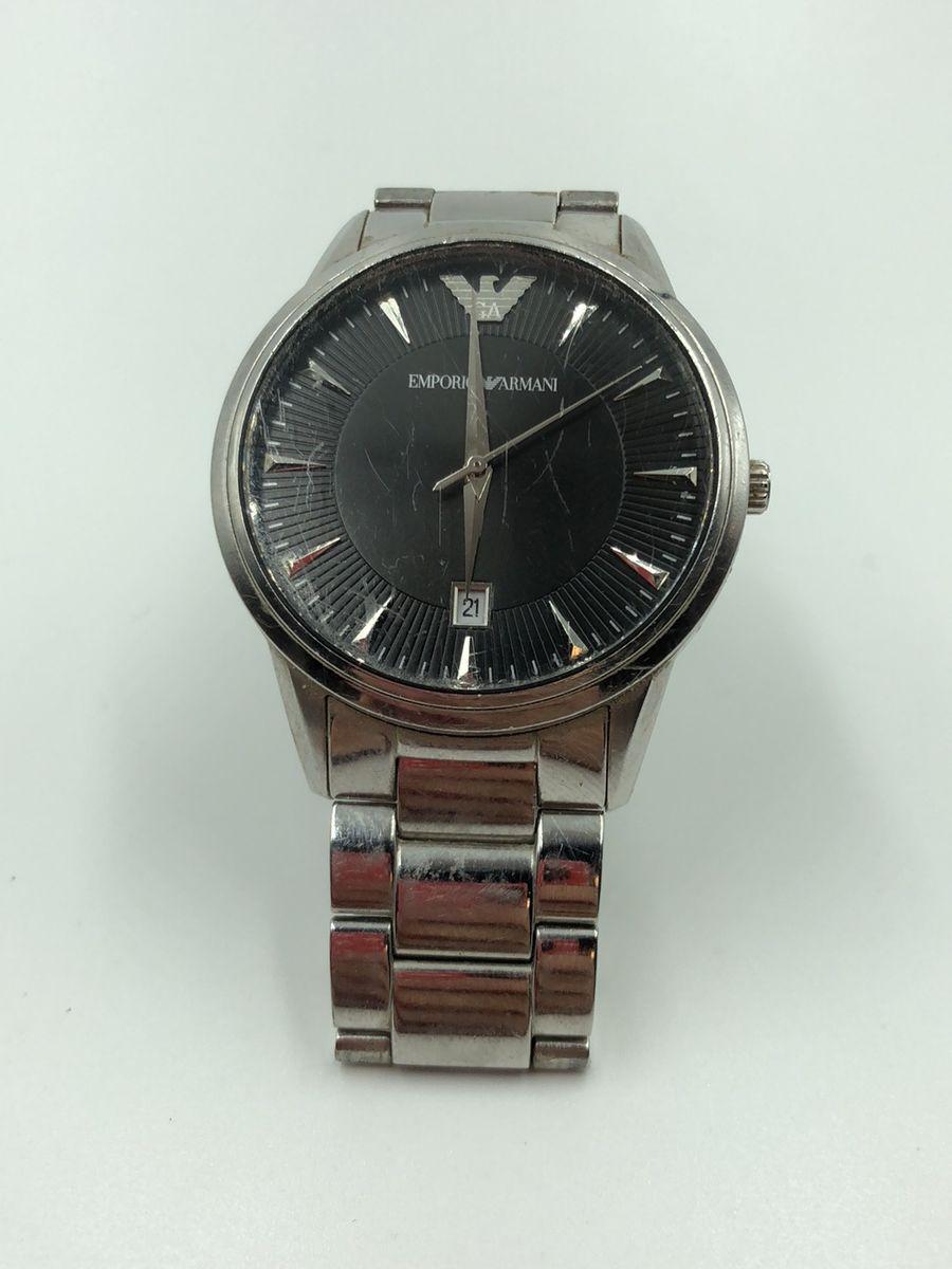 97efa53f458a0 relógio emporio armani preto original - relógios armani