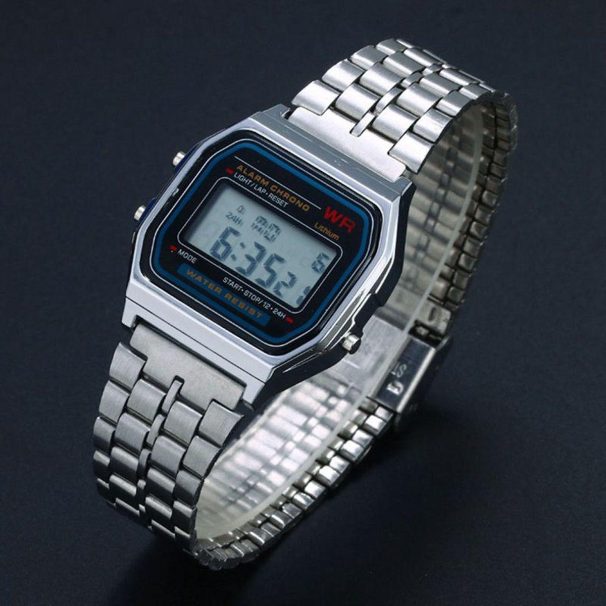 6b9872dec60 relógio estilo casio retro prata - relógios sem marca