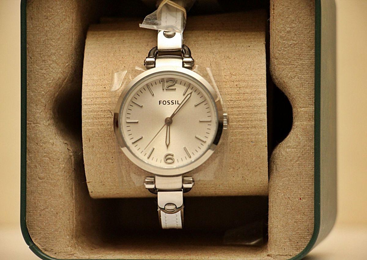72711e2908e relógio feminino prata fossil es 3259 charme só! - relógios fossil