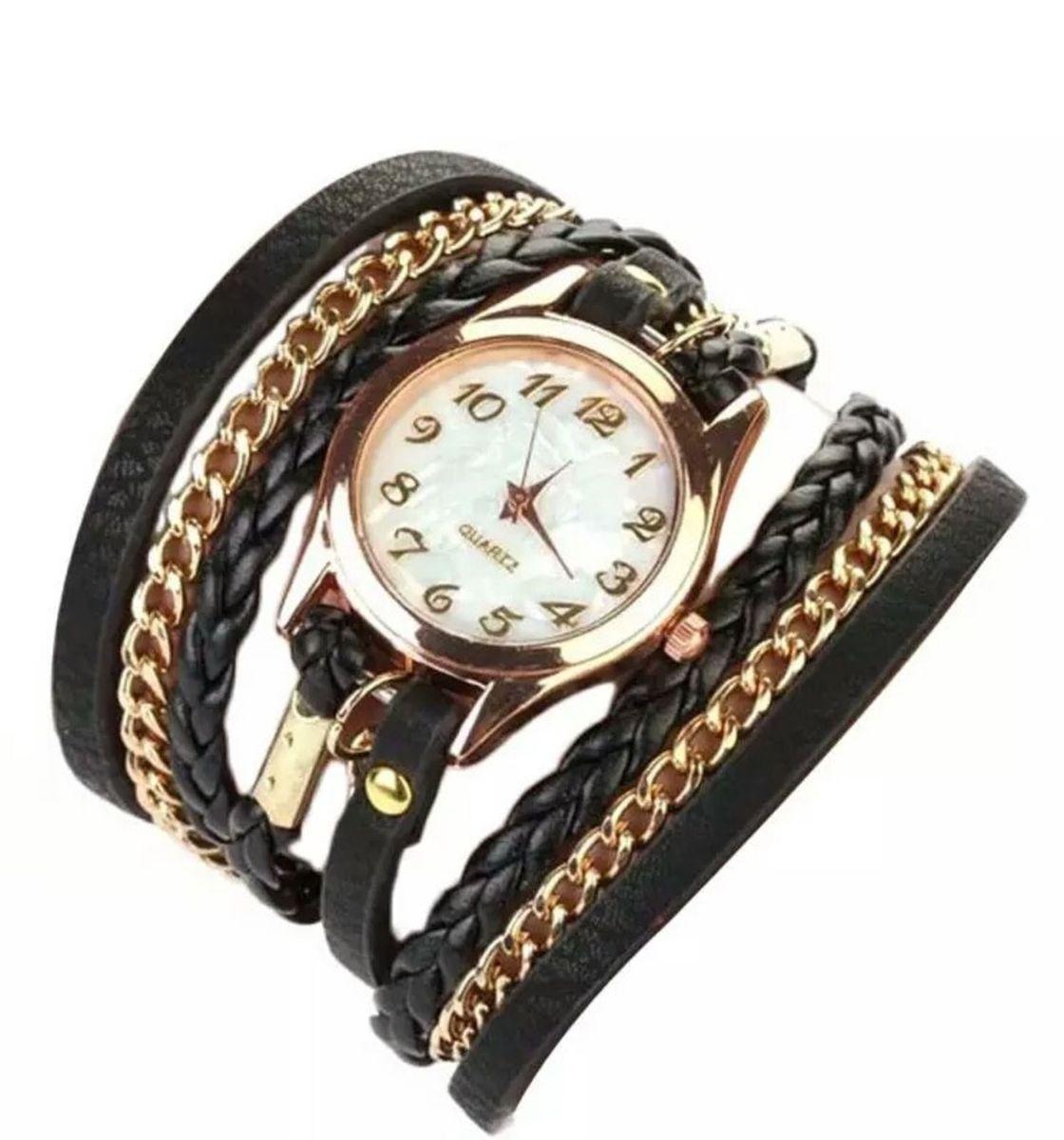 a42202af3fb relogio feminino pulseira bracelete strass - relógios importado