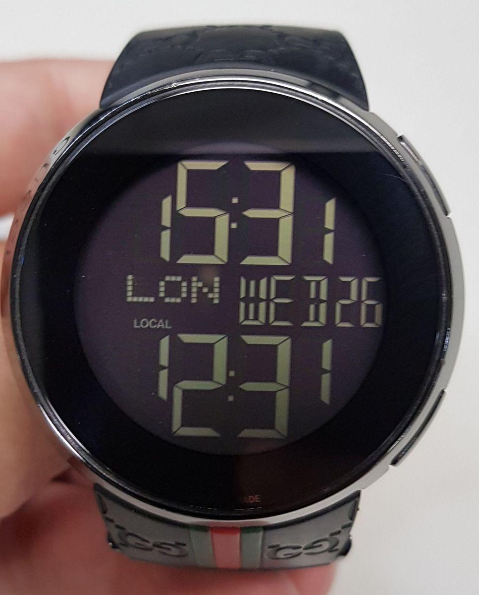 05898242aa0 relógio gucci digital preto - relógios relogio-gucci-masculino-borracha- preta-