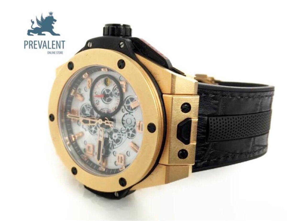 3cf411fec6a relógio hublot edição limitada big bang ferrari gold - relógios hublot