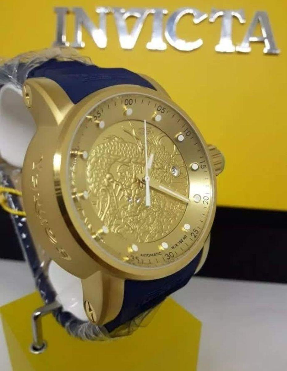 816fec9516a relogio invicta s1 yakuza automatico azul - relógios invicta