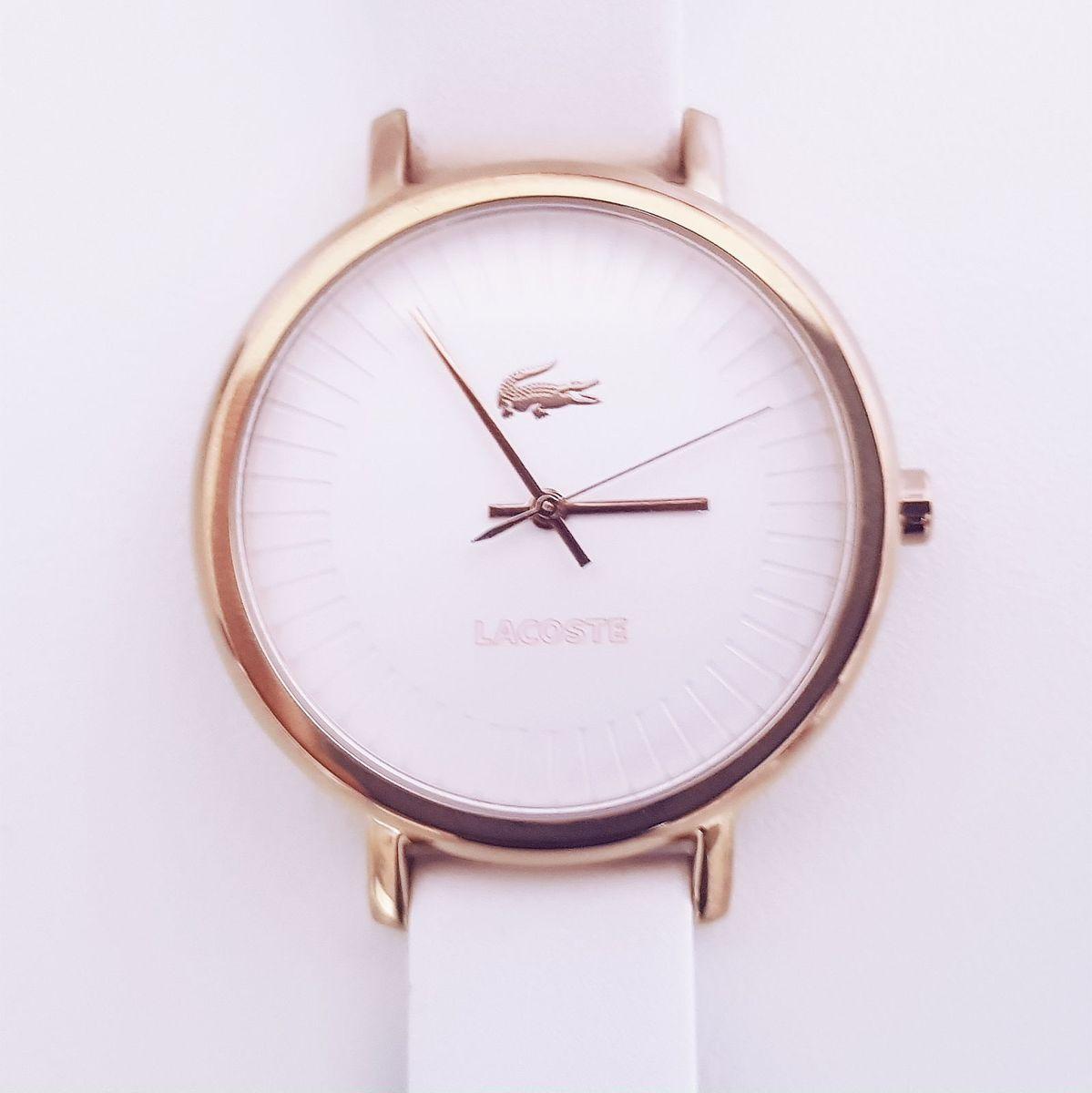 680c482cdc0 relógio lacoste rose gold 2000715 ouro rosa couro branco - relógios lacoste