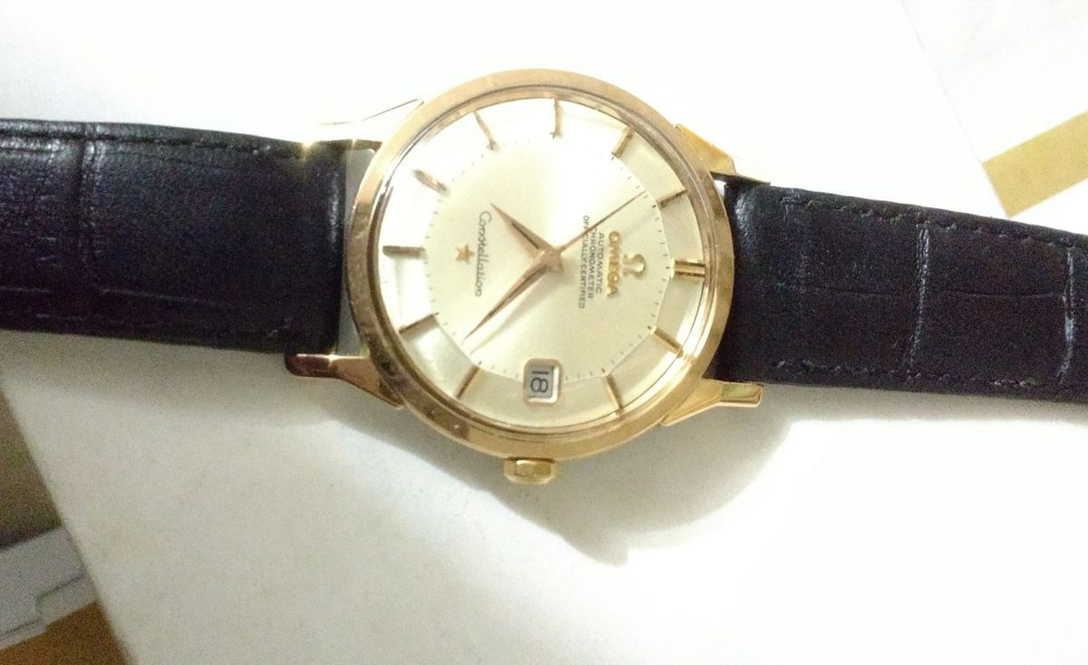 44b50ae8d71 relógio marca omega modelo constelletion aço e ouro - relógios relógio  marca omega