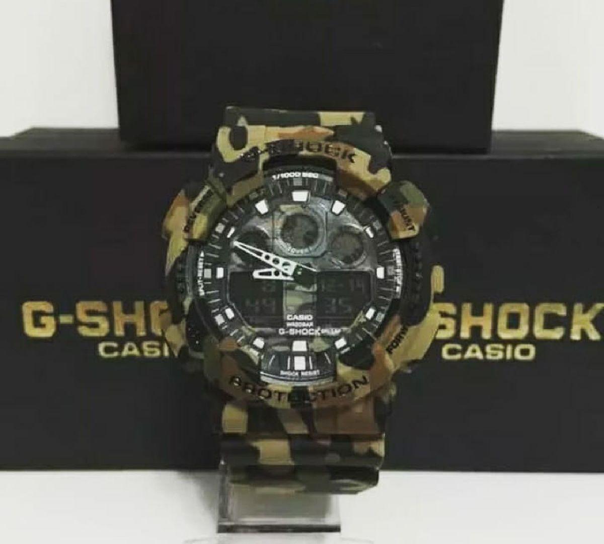 f3ed4fe2855 relogio masculino casio g-shock camuflado militar - relógios casio