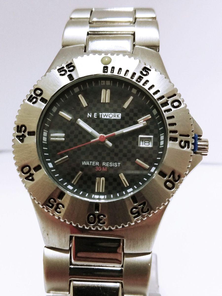 ce281e7fc9c relógio masculino network semi novo - relógios network
