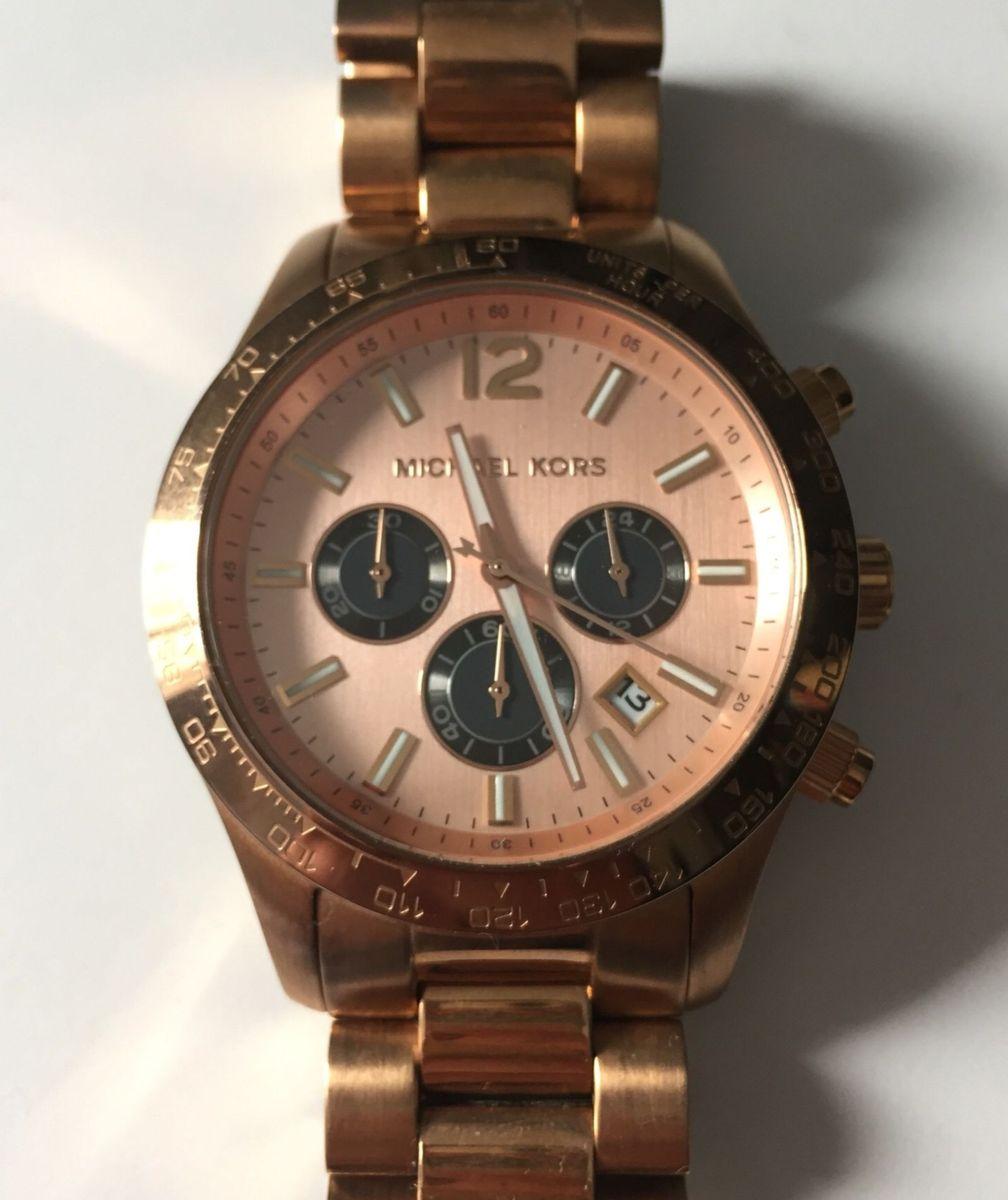 6ba72899f Relógio Michael Kors Bronze - Mk 8186 | Relógio Feminino Michael ...