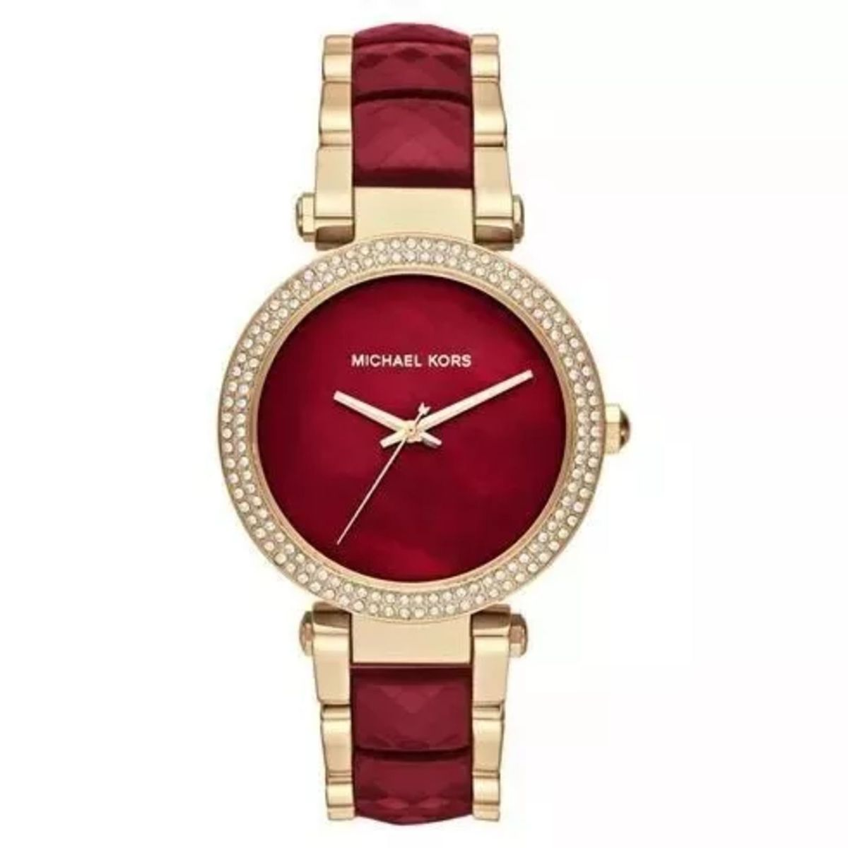 relógio michael kors feminino - mk6427 dourado vinho caixa e manual lur29 - relógios  michael kors 611b01f02a