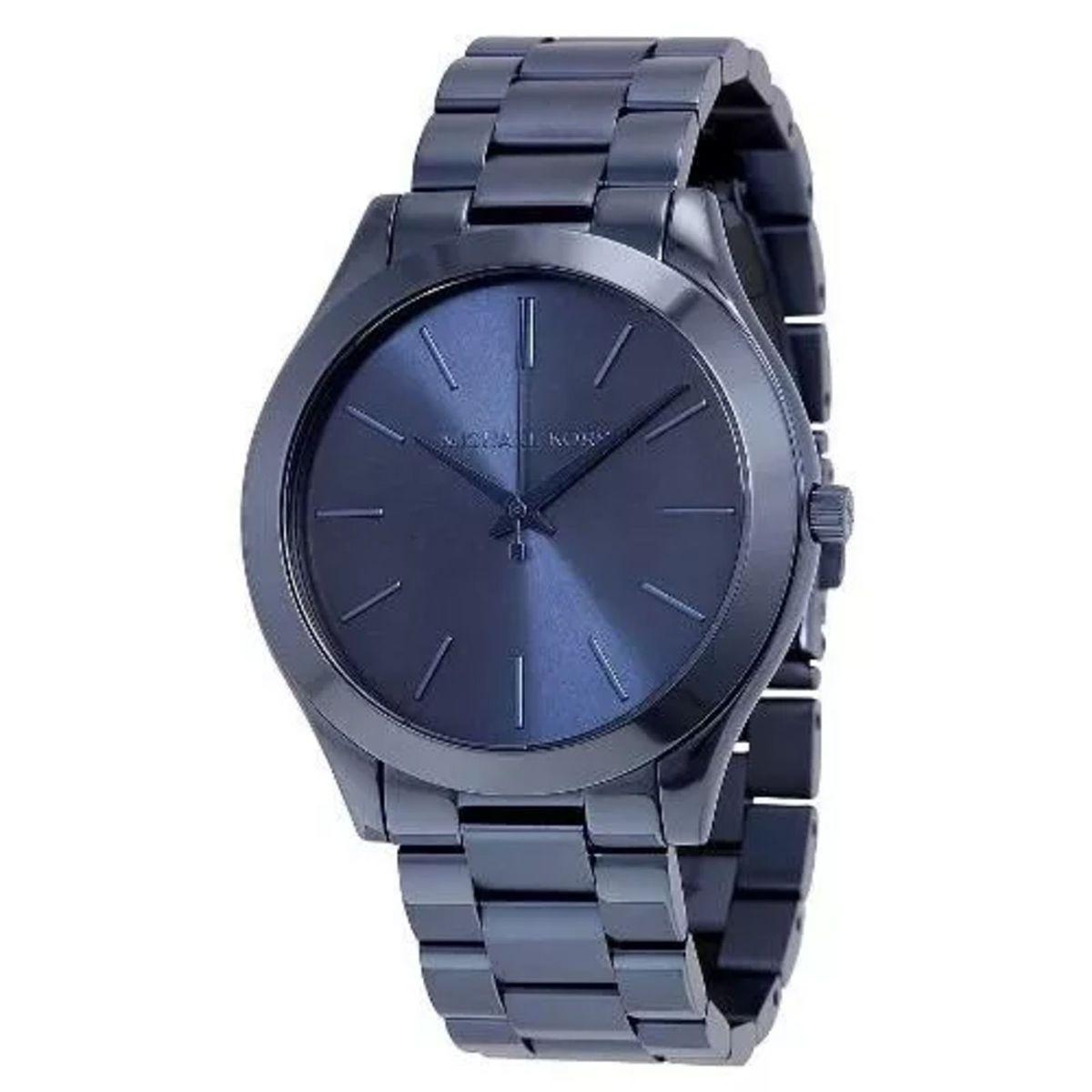 relógio michael kors mk3419 runway azul slim caixa e manual jd1749204 - relógios  michael kors e5b851ef04