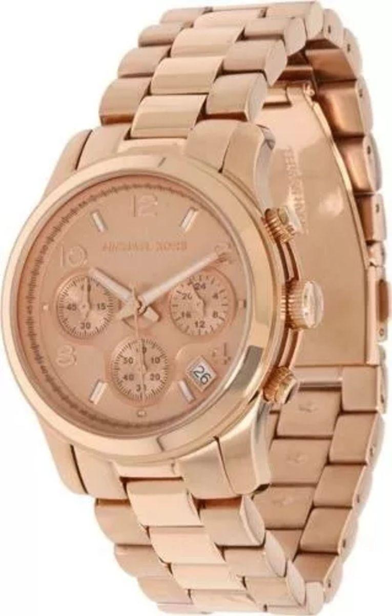 e80d99412d510 relógio michael kors mk5128 ouro rosé original com caixa e manual is84 - relógios  michael kors