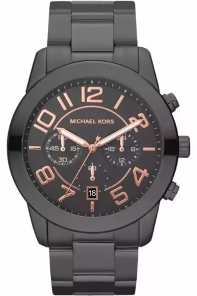 relógio michael kors mk8330 masculino preto rose caixa e manual feu45 - relógios  michael kors 9ba5883f3a