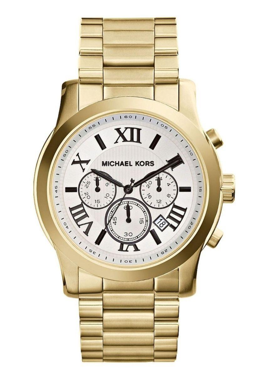 101d8e2786605 relogio michael kors mk8345 branco dourado caixa manual - relógios michael  kors