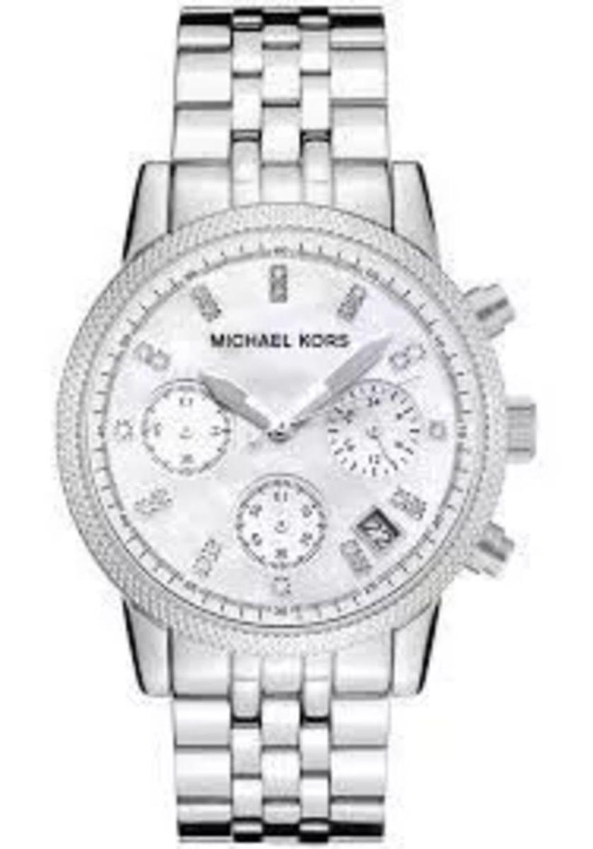 381b5645a relogio mk michael kors mk5020 prata strass caixa +manual jk3859 - relógios  michael kors