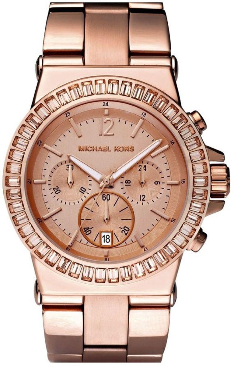 91293aa9dcbac relogio mk michael kors mk5412 rose com strass - relógios michael kors