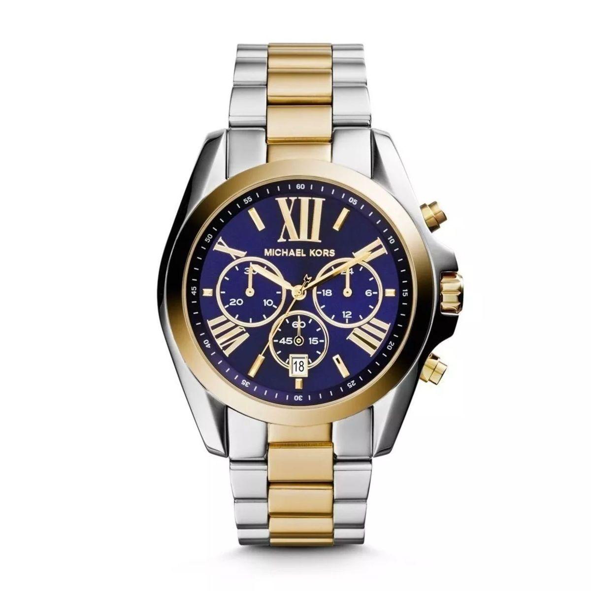 434e40393 Relógio Mk Michael Kors Mk5976 Prata Dourado Azul com Caixa e Manual E941 |  Relógio Feminino Michael Kors Nunca Usado 27462119 | enjoei