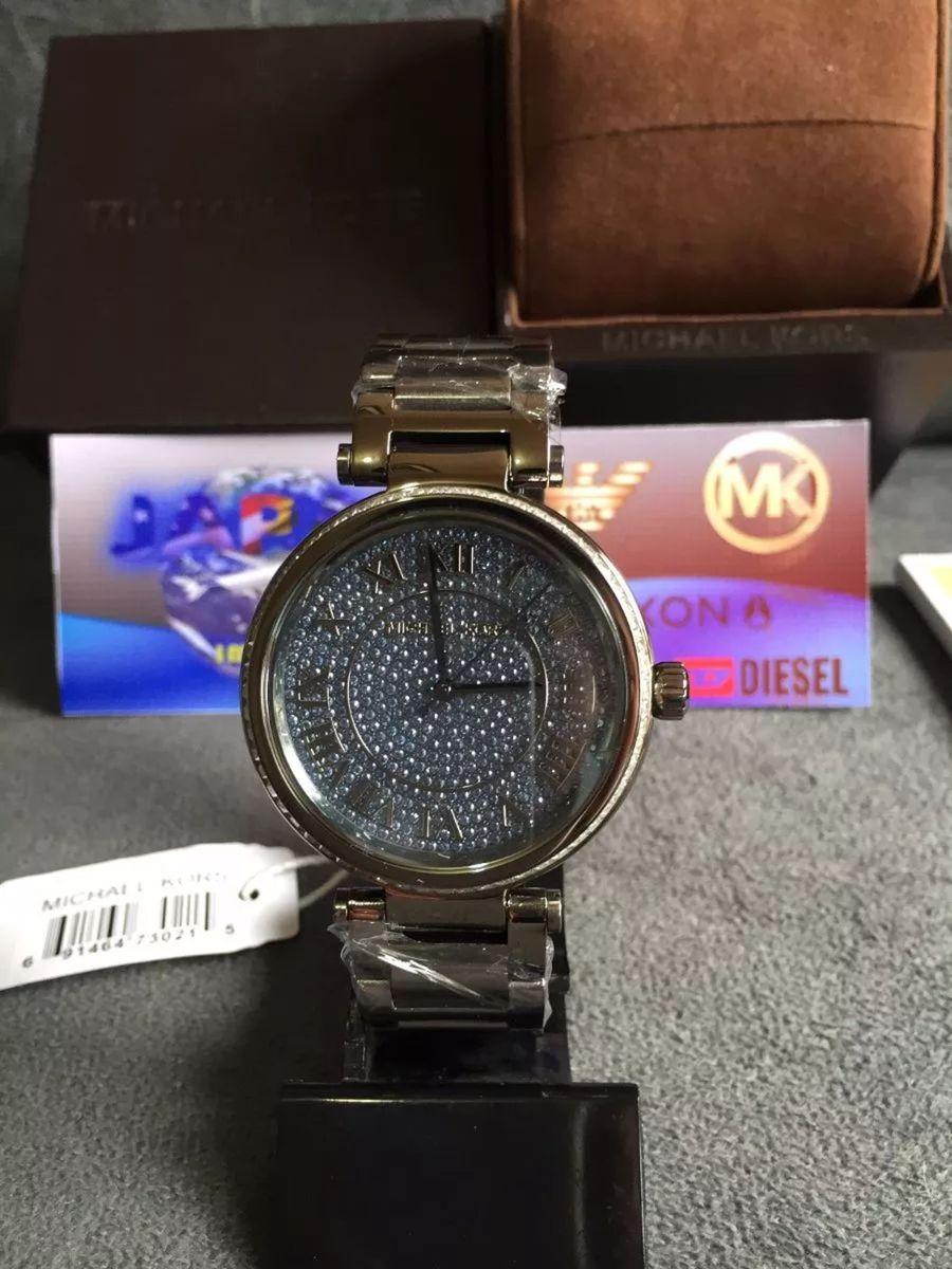23e524e32 relogio mk michael kors mk6087 strass original completo c/caixa e manual  fc3854 - relógios