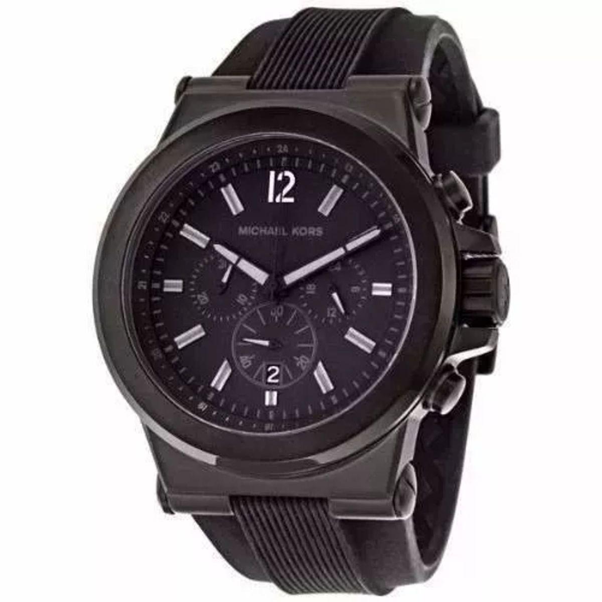 relógio mk michael kors mk8152 preto com caixa e6 - relógios michael kors 433993bae3