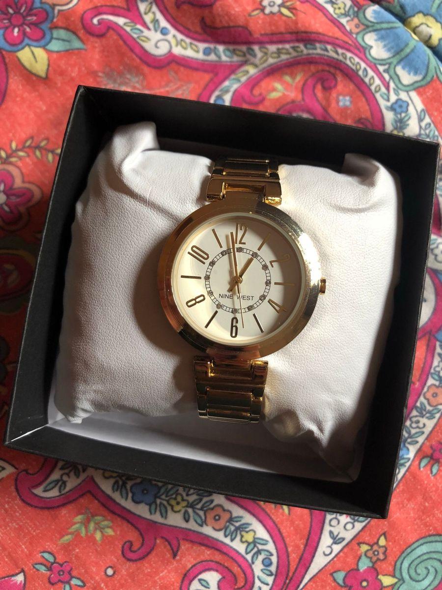 6d175f60c665a nine west gunmetal bracelet - relogio - relógios nine-west