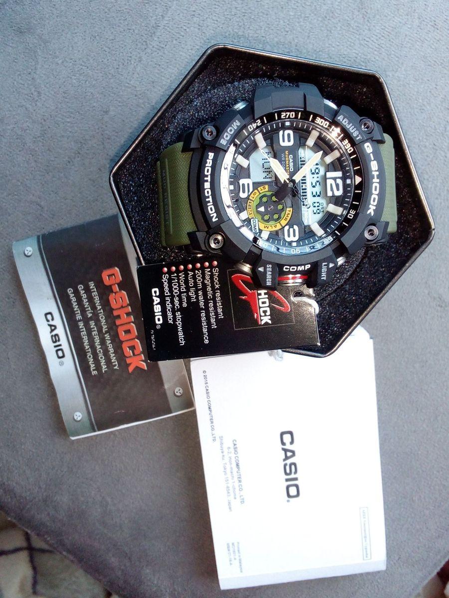 1c82ede73a2 relógio casio g shock mudmaster 100% original e autêntico bússola e  termômetro - relógios casio