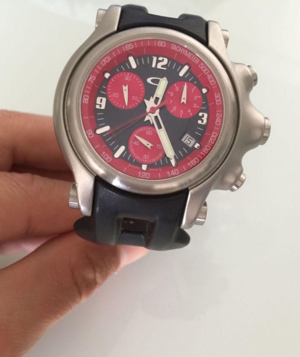 3ba43412456 relógio oakley holeshot red - original - relógios oakley