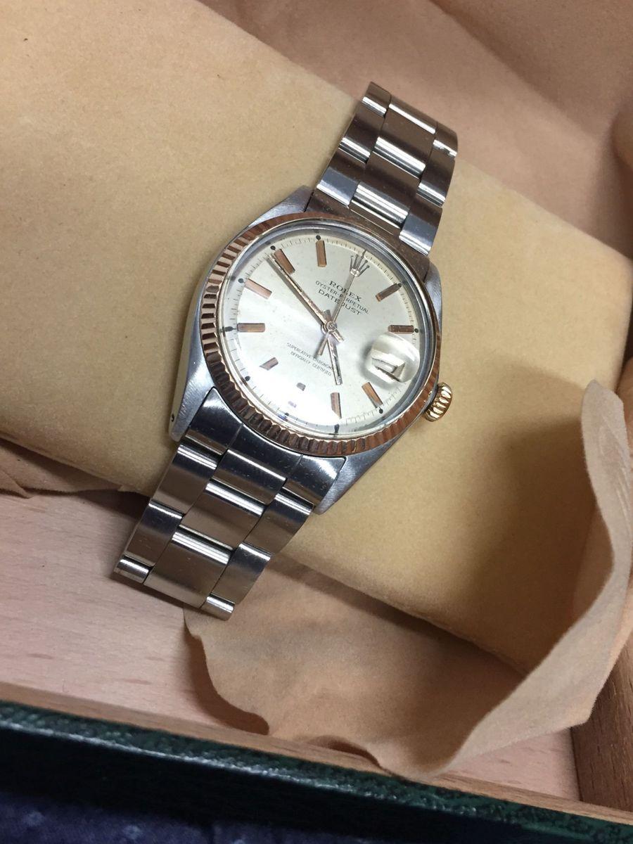 ea317c0dcce relógio original rolex oyster datejust masculino 35mm - relógios rolex