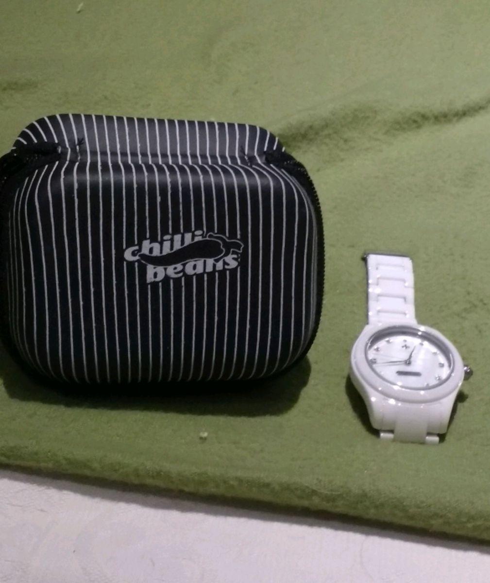 c83d26800 relógio porcelana novissimo, sem um risquinho sequer - relógios chilli-beans