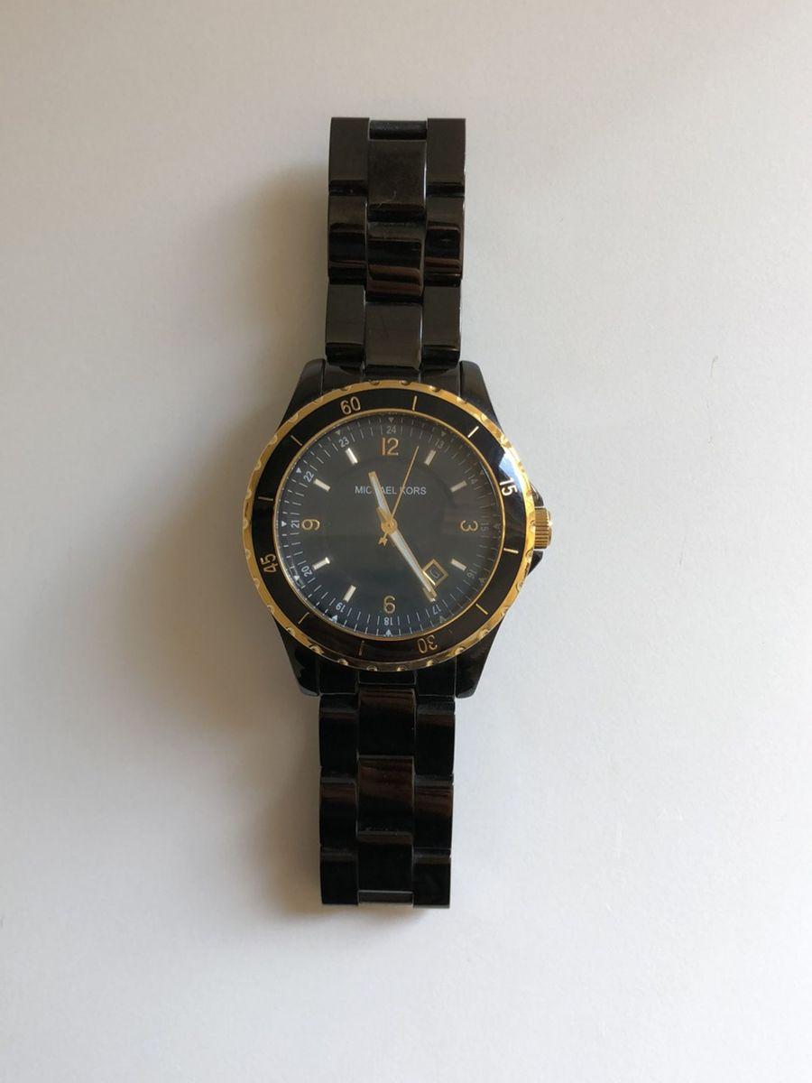 091517c45 Relógio Preto Michael Kors | Relógio Feminino Michael Kors Usado ...