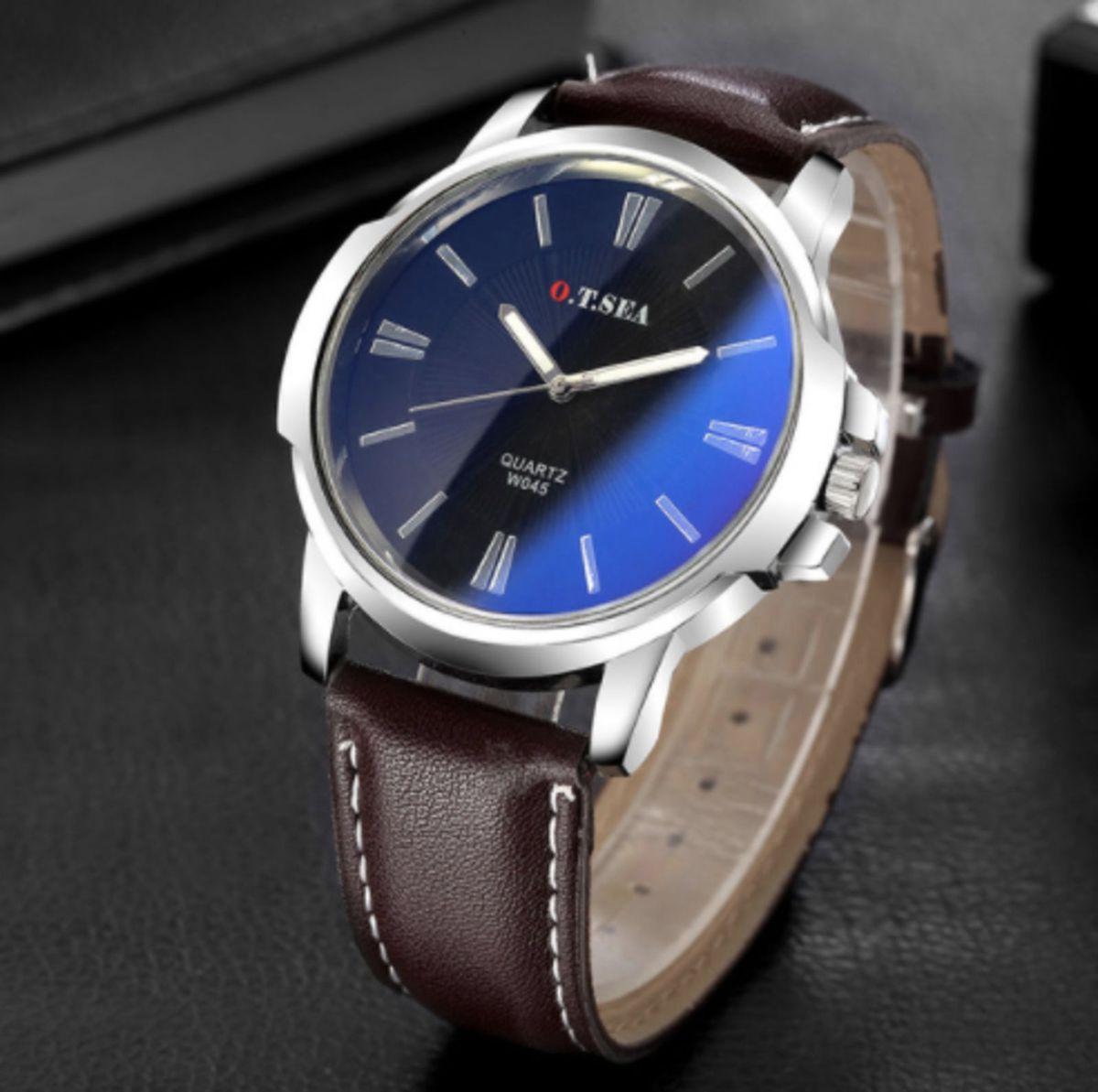 7d3fda17742 relógio pulso masculino top luxo marrom azul super promoção - relógios sem- marca