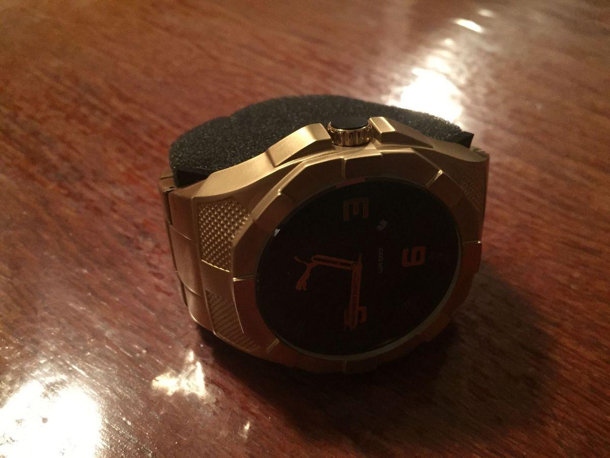 eb537cc45b5 Relógio puma dourado ouro relógio masculino puma nunca usado enjoei jpg  1200x900 Relogio puma dourado