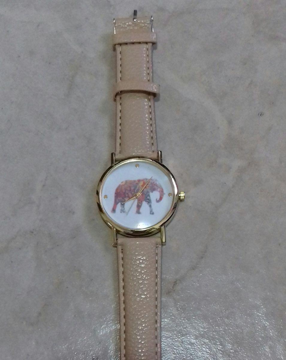7890220114f relógio quartz feminino elefante - relógios importado