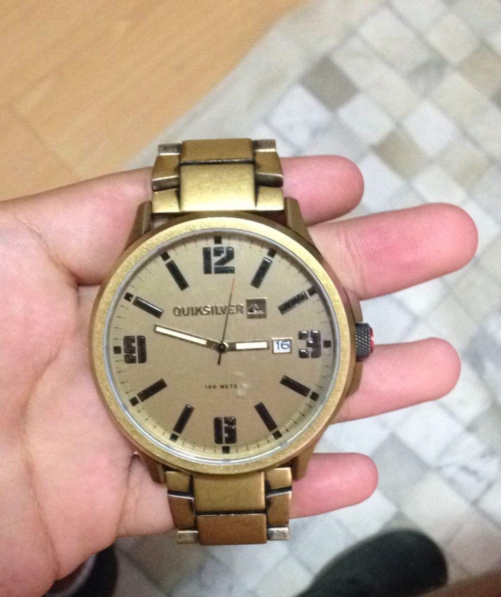 4fb96acda5c relógio quicksilver beluka dourado - relógios quicksilver