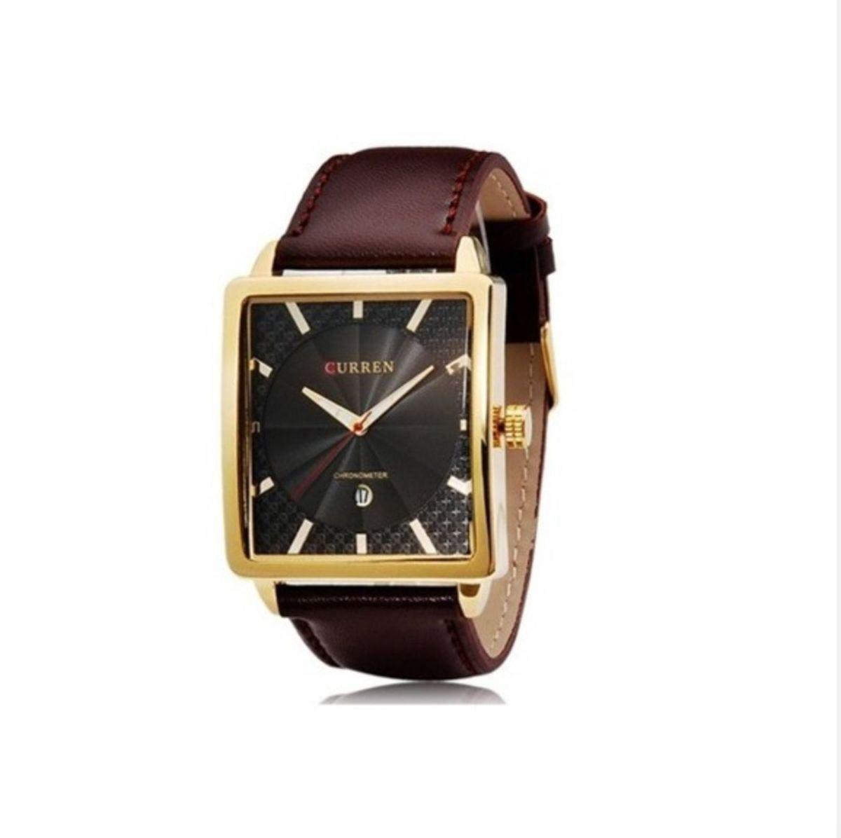relógio retangular curren masculino quadrado grande dourado - relógios sem  marca 2b9d72fbdc