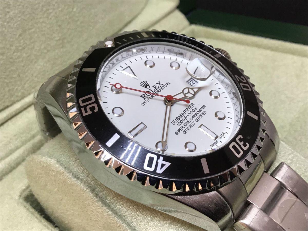 2164c4e273b relógio rolex completo em detalhes branco   prata - relógios rolex