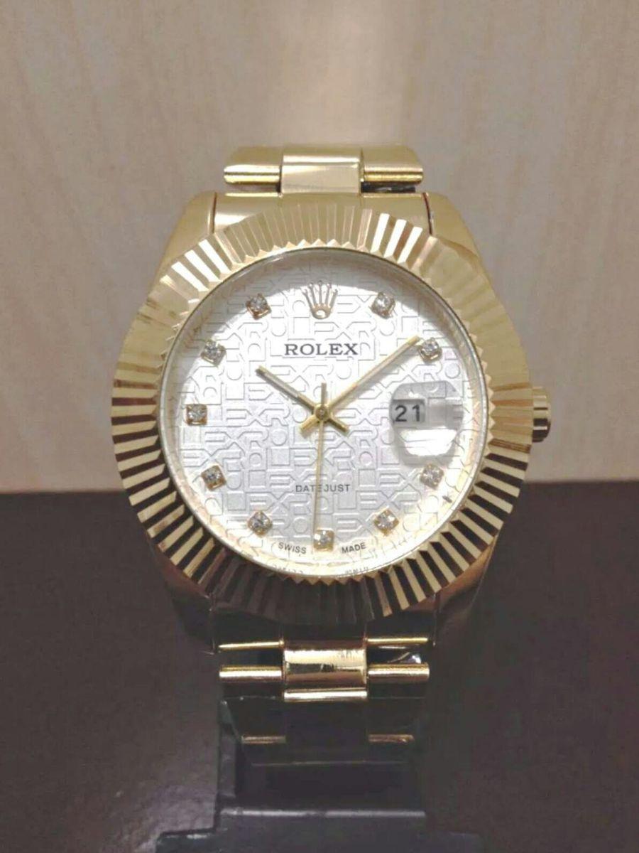 974c8bc2101 relógio rolex datejust presidente dourado gold unissex novo todo funcional  na caixa - relógios rolex