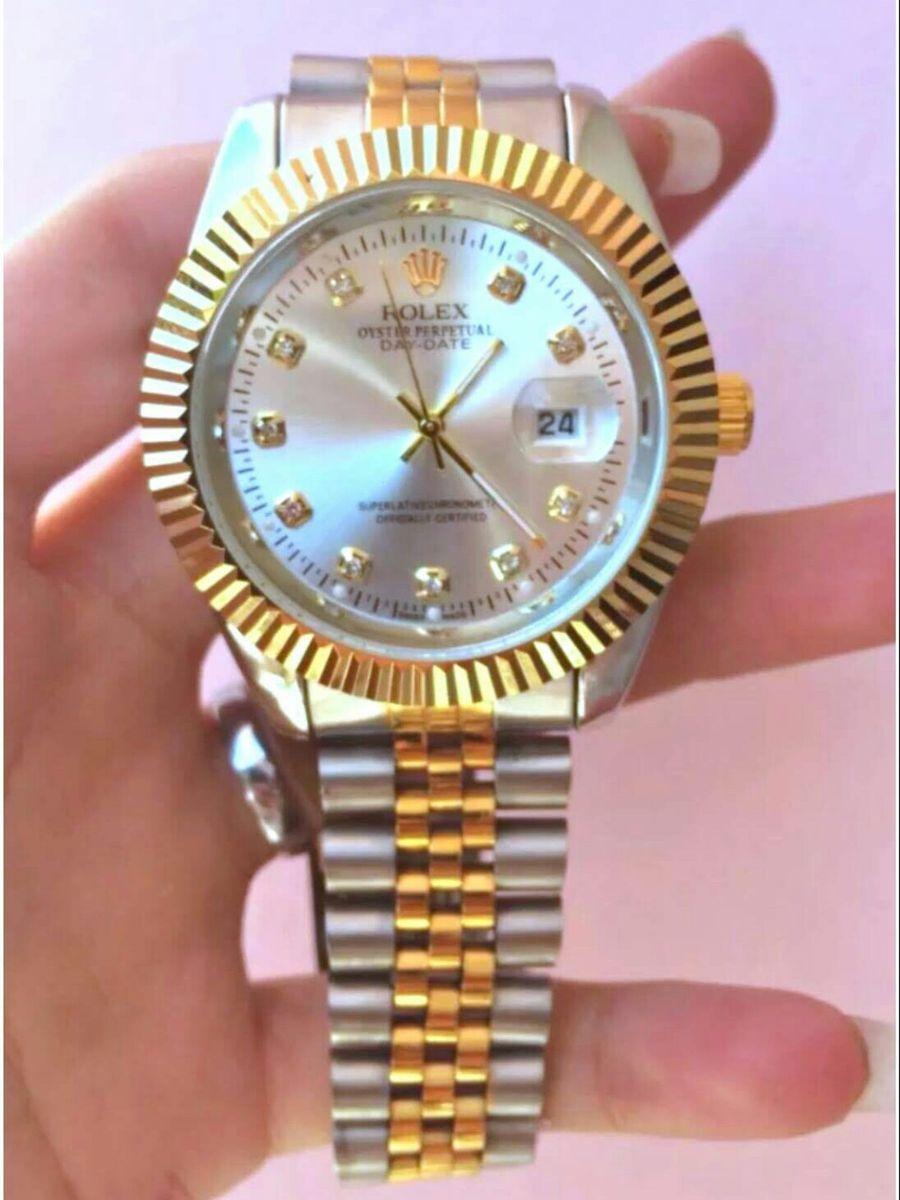941164243d2 relógio rolex datejust presidente unissex novo na caixa todo funcional - relógios  rolex
