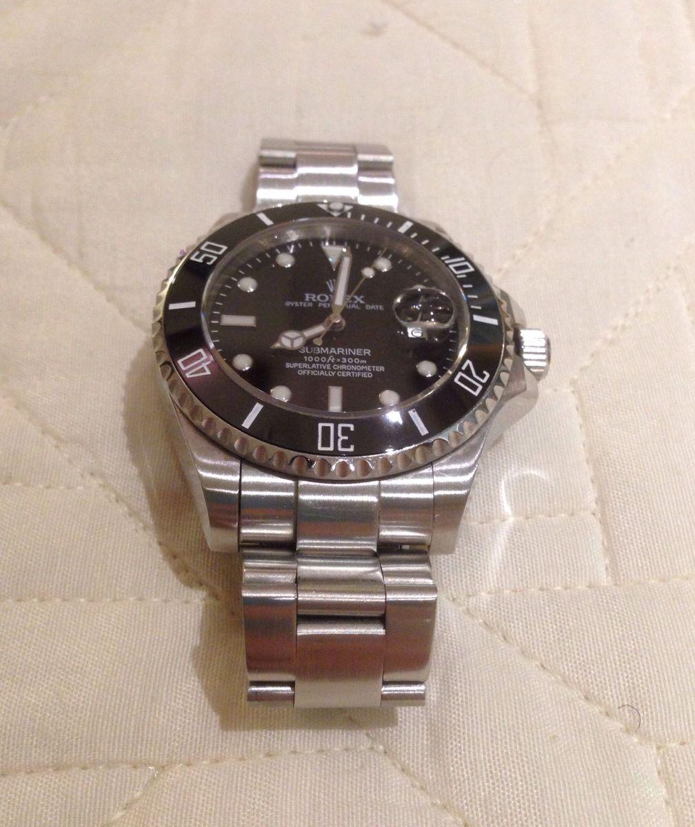 33aab9501e3 Relógio rolex submariner black relógio masculino rolex usado jpg 1008x1200 Rolex  relogios masculinos